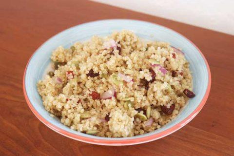 Cranberry Pumpkin Seed Quinoa Salad